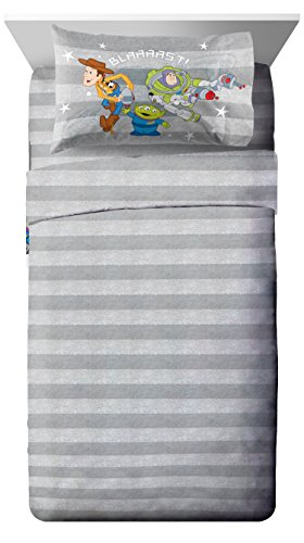 Bedding Set Toy Story (Disney/Pixar Toy Story Green Man 3 Piece Twin Sheet Set)