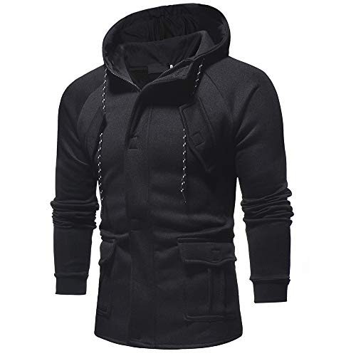 Amazon.com: Most Wished!!! Teresamoon Mens Autumn Winter Casual Long Sleeve Zipper Pocket Work Hooded Top Coat: Arts, Crafts & Sewing