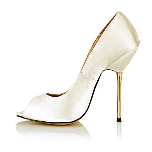 CHMILE Met para Chau Aguja de de Bombas Mujer Alto Zapatos Tacon qZFrwRq