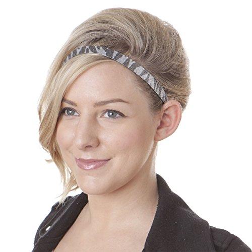 Hipsy 3pk Girl's Adjustable Non Slip Animal Print Headband Multi Gift Pack (Leopard/Black/Zebra)