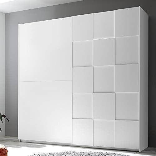 Noveomblible - Armario 220 cm, diseño blanco lacado TIAVANO