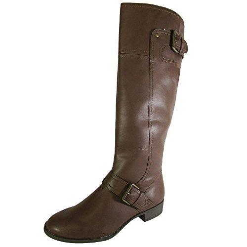 Nine West Womens Vermillio Synthetic Riding Boot Shoe Cognac guIogVmxp9