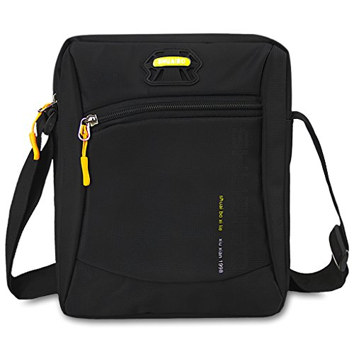 Sports Gym Bag Messenger Purse Leisure Travel Handbags Men Black Shopping Carrying Pouch Casual Shoulder q8Awnz0