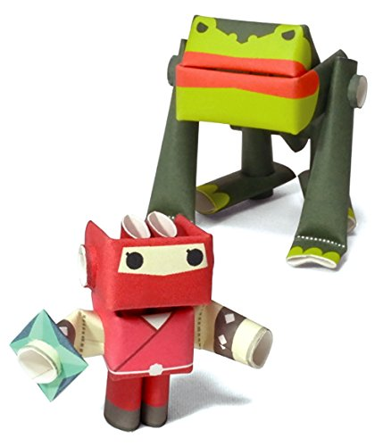 a paper craft robot kit from Japan - Ninja Woman & Her Underling ()