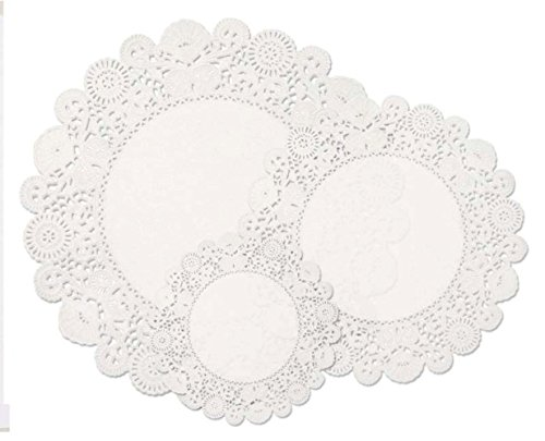 Hygloss 46810 96-Piece Round Doilies, 6-Inch, 8-Inch and ...