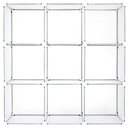 Achim Home Furnishings SHLV9CFRP4 9 Cube Plastic Drawer Unit Storage Organizer DIY Modular Shelving Cabinet