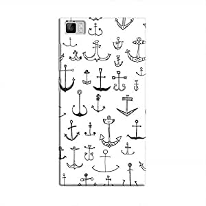 Cover It Up - Drawn Anchors Mi3Hard Case