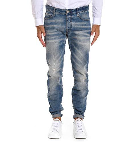 Care Blu Bodies214khol235422 Cotone Uomo Jeans Label rwC7qrB