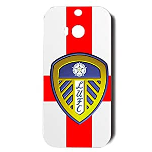 Exquisite Background Style Leeds United Association Football Club Phone Case Durable Cover For Htc One M8