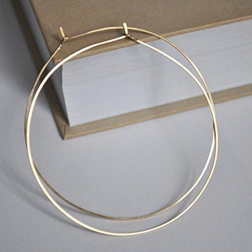 Gold Hoop Earrings - Lightweight Hoops - Fashion Jewelry for Women - Big Earrings - 2 inch, 2.5 inch, 3 inch - Gold Filled Hoops - Handmade Hoop Earrings