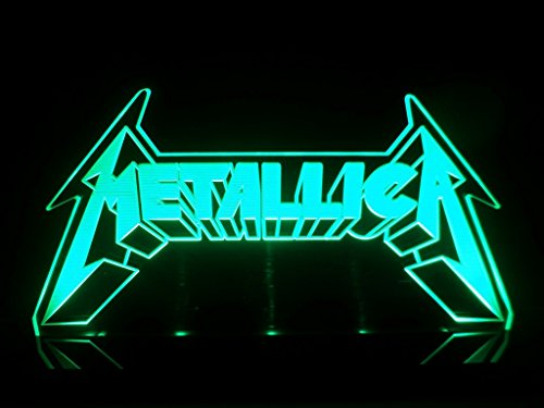 Metallica Logo Heavy Metal Rock Led Desk Lamp Night Light