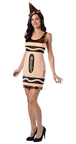 The Crayon Box That Talked Costumes - Rasta Imposta Crayola Tank Dress, Bronze,
