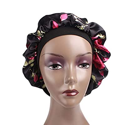 Satin Bonnet-Premium, Satin Sleep Cap with Wide Elastic Band,1-Pack Salon Bonnet Scarfs, Soft Day and Night Cap for Hair
