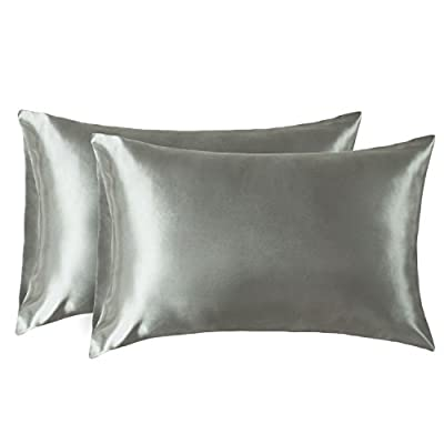 Bedsure Two-Pack Satin Pillowcases Set for Hair Cool and Easy to WASH King 20x40 Gray with Envelope Closure - 4013329 , B0756W94D9 , 454_B0756W94D9 , 14.99 , Bedsure-Two-Pack-Satin-Pillowcases-Set-for-Hair-Cool-and-Easy-to-WASH-King-20x40-Gray-with-Envelope-Closure-454_B0756W94D9 , usexpress.vn , Bedsure Two-Pack Satin Pillowcases Set for Hair Cool and Easy