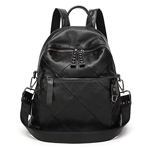 Black Fashion School Stitching Large Capacity Bag Travel Rucksack Backpack 6Z8qrxn6H