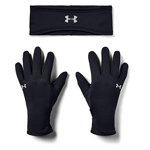 Under Armour Band Glove Combo, Black (001)/Silver Reflective, Medium/Large