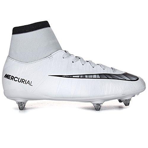 Nike Junior Mercurial Victory VI CR7 DF SG Football Boots 903593 Soccer Cleats (UK 4.5 us 5Y EU 37.5, Blue Tint Black White 401) (Best Junior Football Boots)