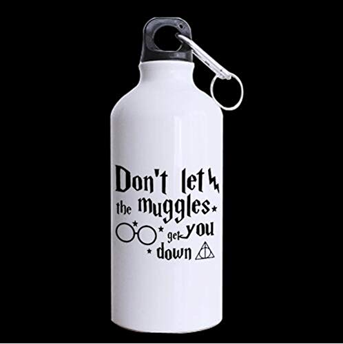 Custom - Don't Let The Muggles Get You Down Tea/Coffee/Water Cup 100% Aluminum 13.5 OZ Sports Water Bottle Travel Cup, White (Promotional Ceramic Mugs)