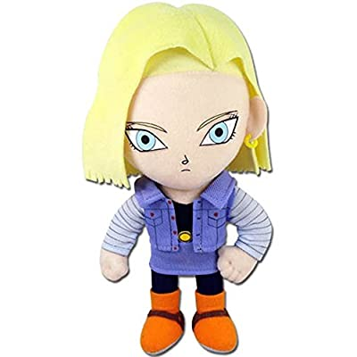 "GE Animation GE- 52719 Dragon Ball Z 8"" Android #18 Blonde Hair Stuffed Plush: Toys & Games"