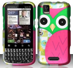 Motorola XPRT MB612 (Sprint) Colorful Owl Design Hard Case Snap On Protector Cover + Free Animal Rubber Band Bracelet (Motorola Xprt Mb612)