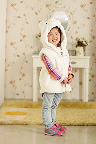 Fashion Animals Vest Hoody for Kids(Polar Bear Vest) (L)