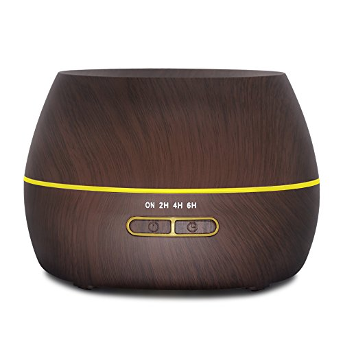 Afloia Humidifier Essential Oil Diffuser Ultrasonic Aromatherapy Diffuser 300ml Scented Oil Diffusers Wood Grain Black (Scented Diffuser Aroma)