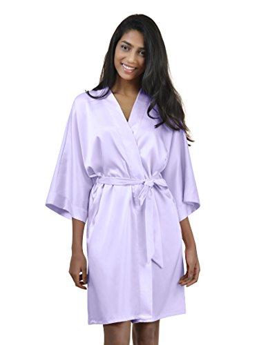SIORO Mujer satén vestido pijama vestido pijama Suaves Ropa Dormir Camisón Lencería corto lila