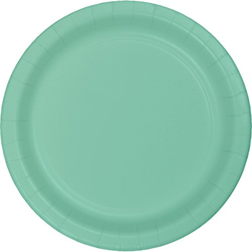 Creative Converting 318894 Fresh Mint Paper Lunch Plate, 7