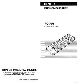 denon rc 770 remote control owners manual plastic comb jan 01 rh amazon com jbl control 25 owners manual me-rc remote control owner's manual