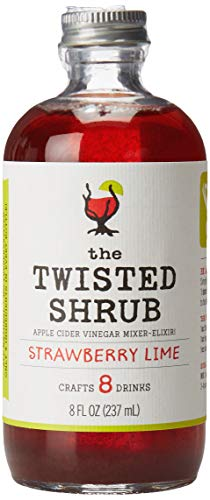 The Twisted Shrub - Strawberry Lime - Apple Cider Vinegar Drink Mixers for Healthier Sodas & Cocktails