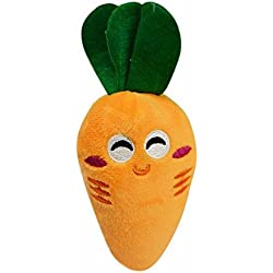 Botrong Dog Puppy Chew Toy Squeaky Plush Sound Cute Vegetable Carrot Design Toys