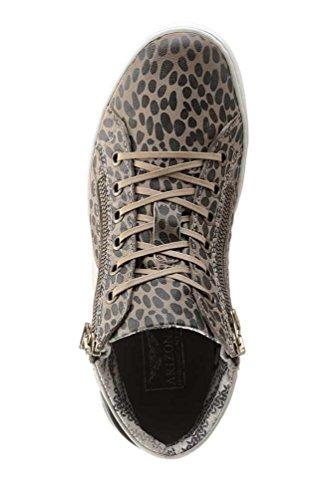 ARIZONA Damen-Schuhe Sneaker Knöchel-Sneaker braun-bunt