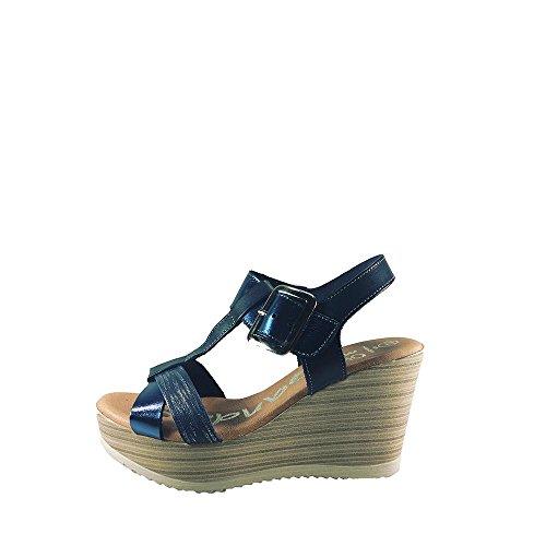 Hebilla Sandalia de Talla Acolchada Cuña Marino con de el Suela Goma Azul y Planta Tira en de con Mujer 39 Alta Piel Color Empeine pZFyrcpwq