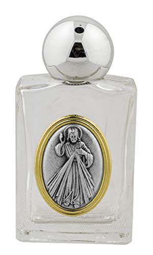 Venerare Glass Holy Water Bottle with Gold Accent (Divine ()