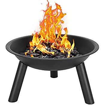 Amazon.com : Henf 22 Inch Fire Pit Bowl, Outdoor Wood ...