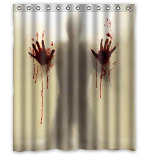 Sparkling Stars New Arrival Walking Dead Creepy Bloody Hands Custom Shower Curtain Halloween Gift 60 X 72 (Customs Halloween Make)