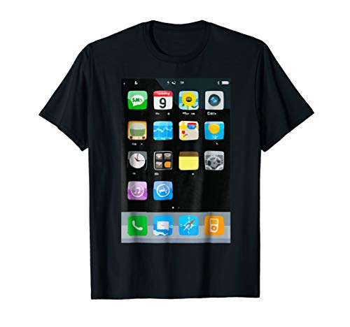 Cell Phone Smartphone Mobile App Halloween Costume T-Shirt ()
