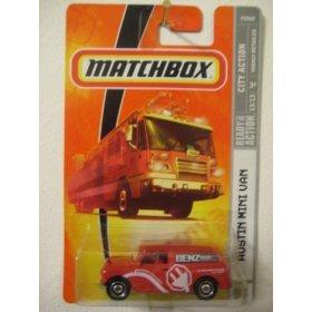 (Mattel Matchbox 2008 MBX City Action 1:64 Scale Die Cast Metal Car # 53 - Austin Mini VAN RED)