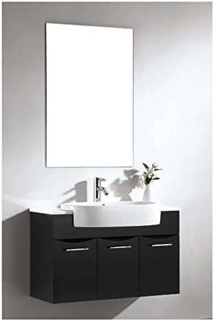 Dawn UN7801-06 Vanity Set with Sink Top, Cabinet and Mirror