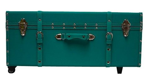 The Designer Wheeled Trunk - Teal - Large by DormCo