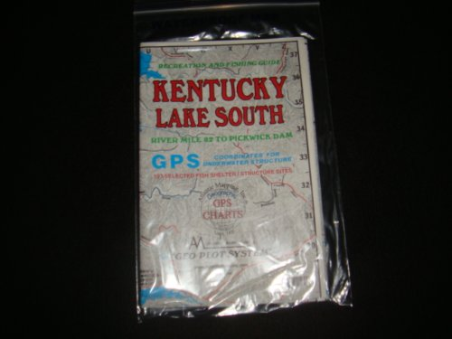 Kentucky Lake South Enlarged Version Geographic GPS Charts and Above Water and Underwater Topography Map