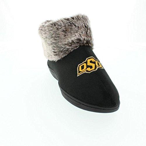 Comodi Piedi Felici Piedi Uomo E Donna Ncaa College Faux Pelle Di Pecora Pelose Pantofole Oklahoma State Cowboys S