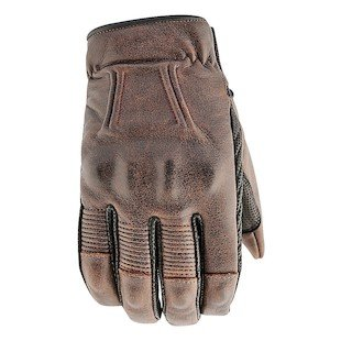 - STREET & STEEL Westwood Leather Motorcycle Gloves - LG, Brown