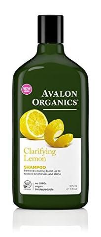 Avalon Organics Shampoo, Clarifying Lemon, 11 Fluid Ounce (Pack of 2)