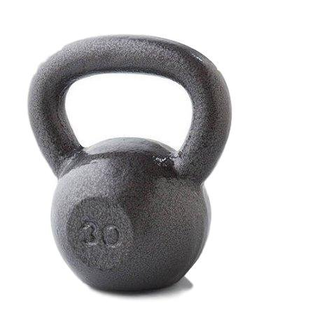Golds Gym 15 lb Cast Iron Kettlebell, 30 lb by Golds Gym