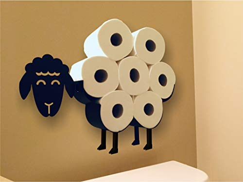 Cute Black Sheep Toilet Paper Roll Holder - Cool Novelty Free Standing or Wall Mounted Toilet Roll Tissue Paper Storage Stand & Holder | Bathroom Floor Decor Accessories | Best Gifts Idea - Neat Sheep by NeatSheep (Image #5)