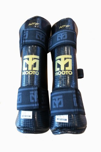 Mooto-New-Taekwondo-Shin-Protector-WTF-Approved-White-Black-XS-to-XL