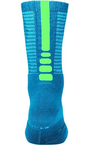 SMLX Crew Nike Green Adult Teal Sock Volt Elite Basketball Unisex Charge qXIwU