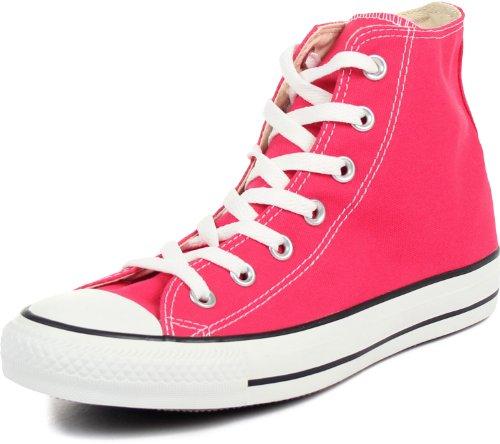 Converse - Chuck Taylor Hi Scarpe Alte In Lampone, Misura: 10 Giorni (m) Us Mens / 12 B (m) Us Donna, Colore: Lampone