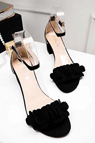 3eab997233b1 Clearance Sale!OverDose Ladies Block High Heel Sandals Flowers Adorn Buckle  High Heels Shoes - Buy Online in UAE.